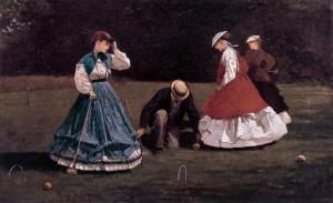 The Croquet Game by Winslow Homer