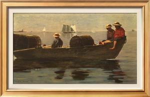 Three Boys in a Dory by Winslow Homer