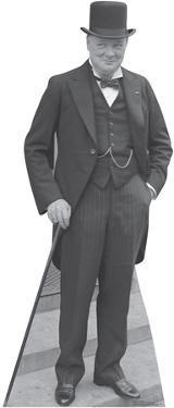Winston Churchill 1929 Lifesize Cardboard Cutout