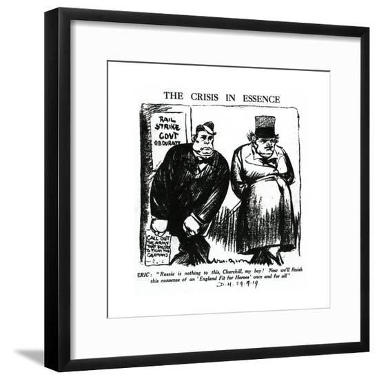 Winston Churchill - Daily Herald Cartoon--Framed Giclee Print