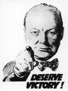 Winston Churchill Says We Deserve Victory!