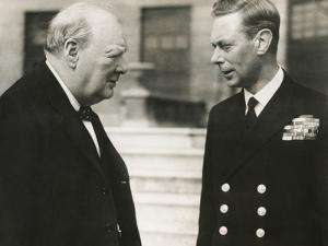 Winston Churchill with King George VI, May 8, 1948