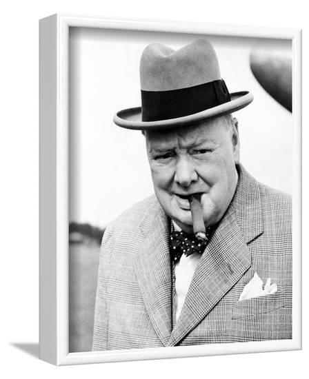 Winston Churchill--Framed Photo
