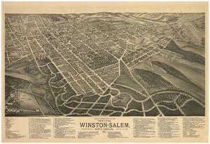 Winston-Salem, North Carolina - Panoramic Map