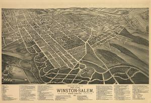 Winston-Salem, North Carolina - Panoramic Map