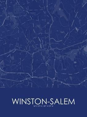 Winston-Salem, United States of America Blue Map