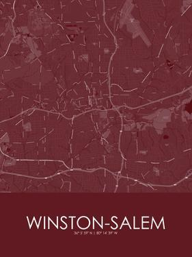 Winston-Salem, United States of America Red Map