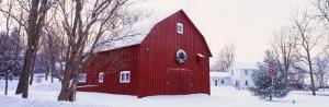 Winter, Barn, Ada, Michigan, USA