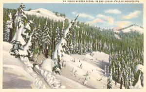 Winter, Coeur d'Alene Mountains, Idaho
