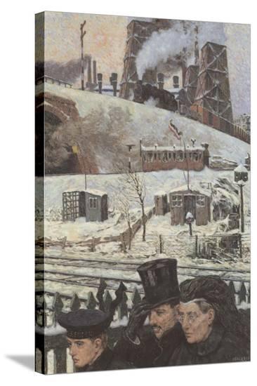Winter during War-Hans Baluschek-Stretched Canvas