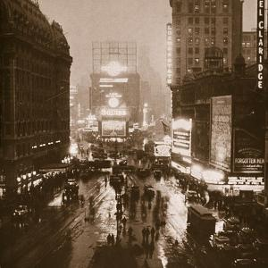 Winter Evening, Times Square, Broadway, New York, Early 1930S