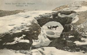 Winter Lake Scene, Sheboygan, Wisconsin