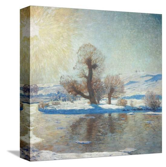 Winter Landscape-Eugen Bracht-Stretched Canvas Print