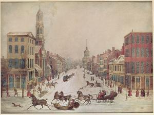 Winter on Wall Street, 1834
