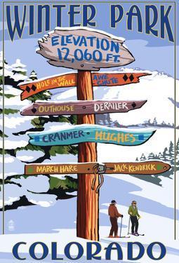 Winter Park, Colorado - Sign Destinations