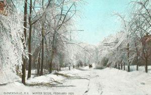 Winter Scene, Gloversville, New York