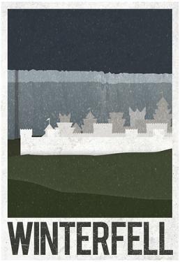 Winterfell Retro Travel Poster