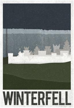 Winterfell Retro Travel Poster