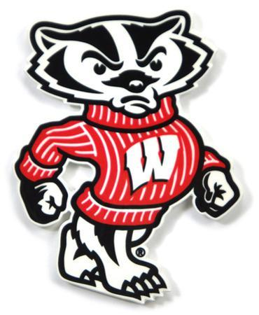 Wisconsin Badgers Bucky Steel Magnet
