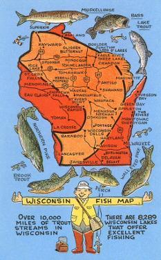 Wisconsin Fish Map