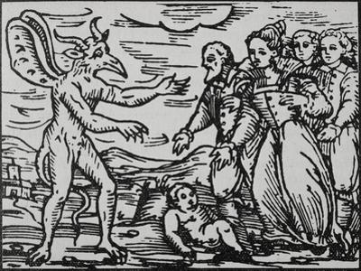 Witches Presenting Baby to Satan