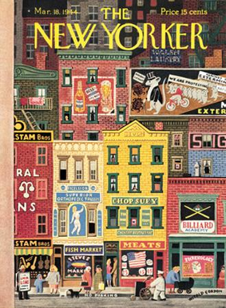 The New Yorker Cover - March 18, 1944 by Witold Gordon