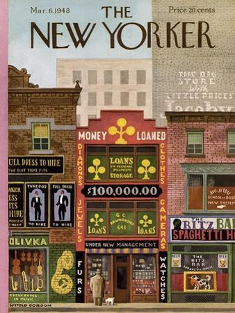 The New Yorker Cover - March 6, 1948 by Witold Gordon