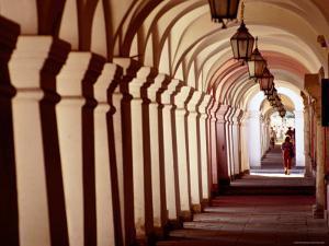 Arcades in Rynek Wielki, Zamosc, Lubelskie, Poland by Witold Skrypczak