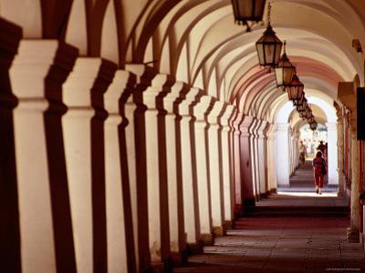 Arcades in Rynek Wielki, Zamosc, Lubelskie, Poland