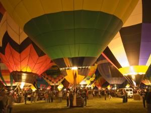 Balloon Glow Show at the Albuquerque International Balloon Fiesta by Witold Skrypczak