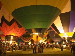 Balloon Glow Show at the Albuquerque International Balloon Fiesta by Witold Skrypczak