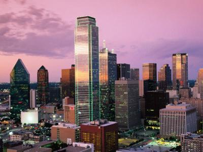 Downtown at Dusk from Reunion Tower, Dallas, Texas by Witold Skrypczak