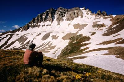 Gilpin Paek from Yankee Boy Basin on Blue Lakes Trail, San Juan Mountains, Colorado, United States