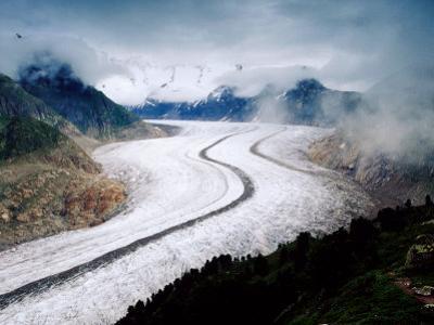 Grosser Aletschgletscher Near Riederalp, Riederalp, Valais, Switzerland