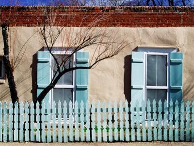 House Facade on Canyon Road, Santa Fe, New Mexico