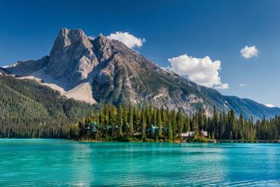 Mount Burgess over Emerald Lake, Canadian Rockies, Yoho National Park, British Columbia, Canada