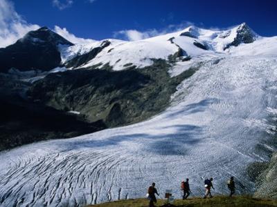 Schlaten Glacier on Grossvenediger Mountain from Alte Prager Hut, Hohe Tauren Nat. Park Austria