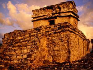 Temple of Dios Descendente, Tulum, Quitana Roo, Mexico by Witold Skrypczak