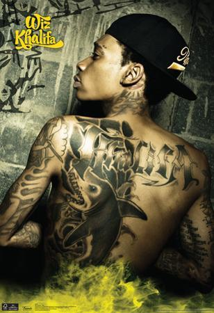 Wiz Khalifa Tattoo Music Poster