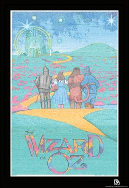 Wizard of Oz Text Poster