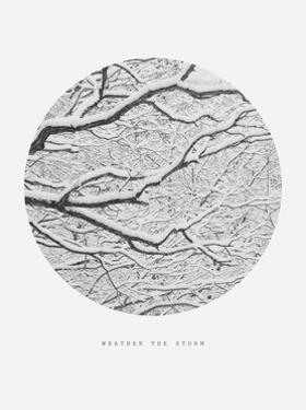 Inspirational Circle Design - Snowy Branches: Weather the Storm by WizData