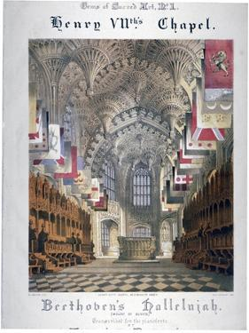 Interior View of Henry Vii's Chapel in Westminster Abbey, London, C1855 by WL Walton