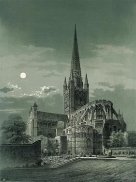 Norwich Cathedral, Norfolk, C1870 by WL Walton