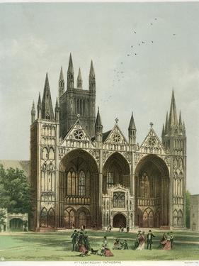 Peterborough Cathedral, Cambridgeshire, C1870 by WL Walton