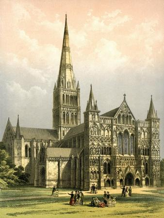 Salisbury Cathedral, Wiltshire, C1870 by WL Walton