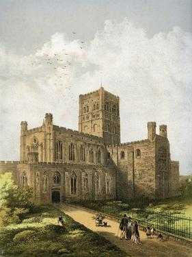 St Albans Cathedral, Hertfordshire, C1870 by WL Walton