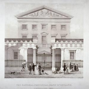 The National Provincial Bank at No 112 Bishopsgate Street, City of London, C1840 by WL Walton