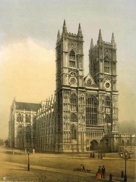 Westminster Abbey, London, C1870 by WL Walton