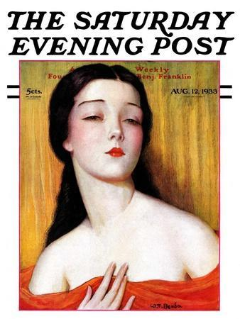 """""""Exotic Woman,"""" Saturday Evening Post Cover, August 12, 1933"""