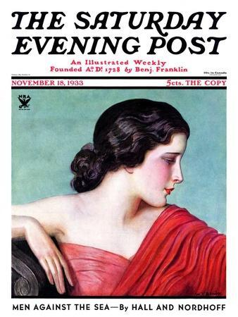 """Exotic Woman,"" Saturday Evening Post Cover, November 18, 1933"